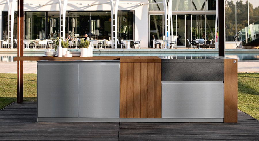 Outdoor kitchen with a modern and functional design n.23