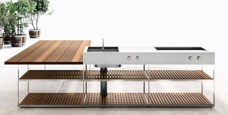 Cucine da esterno di design