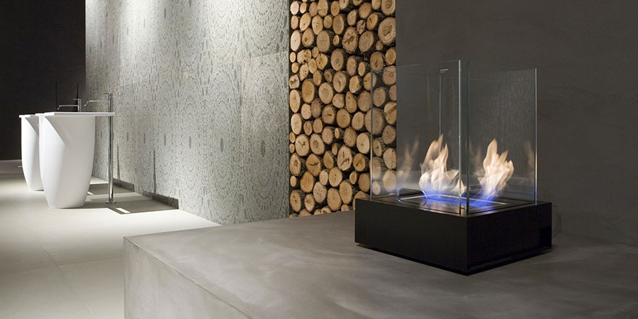 Table bioethanol fireplace by Antonio Lupi n.01