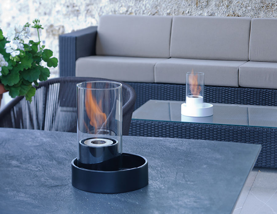 Table bioethanol fireplace by Acquafuoco n.02