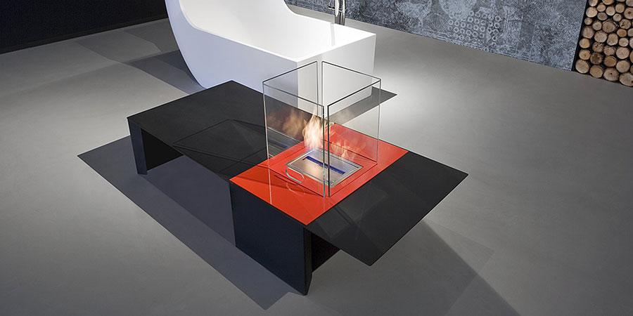 Table bioethanol fireplace by Antonio Lupi n.02