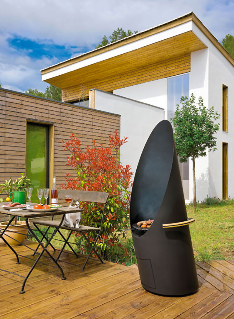 Barbecue model with a modern wood-burning design no.15