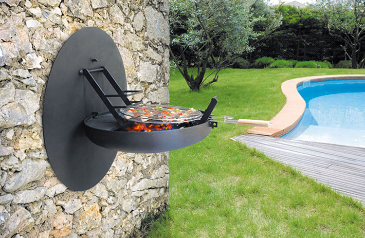 Barbecue model with a modern wood-burning design n.12