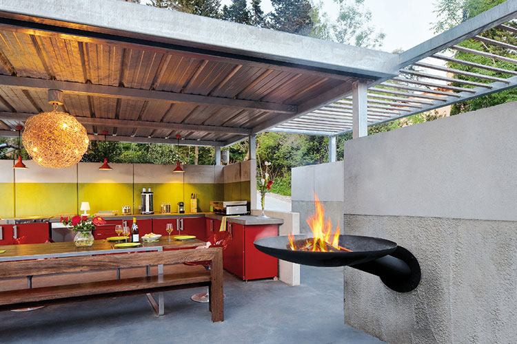 Barbecue model with a modern wood-burning design n.11