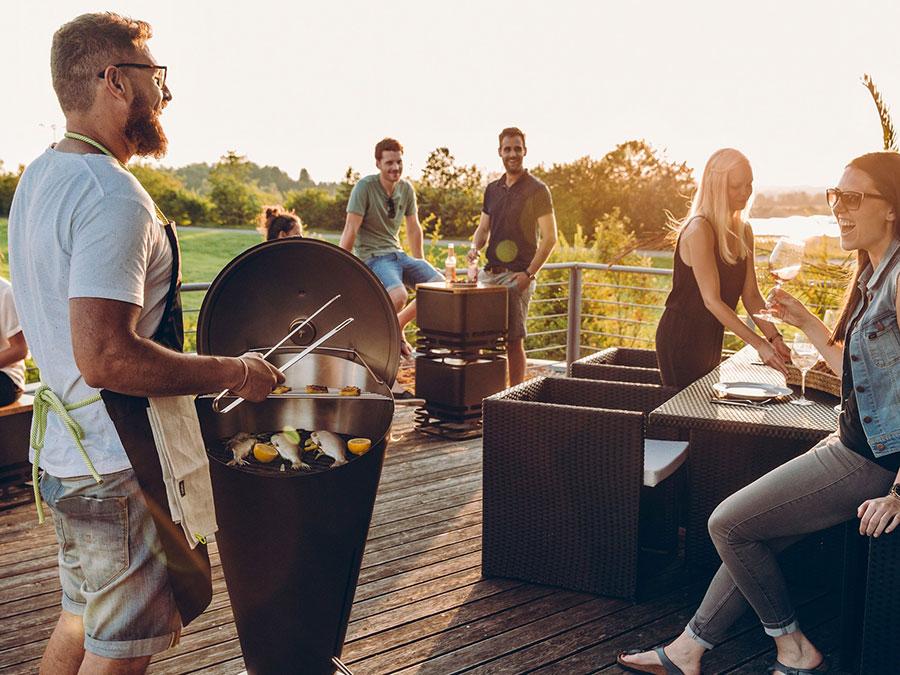 Modern design barbecue model # 19