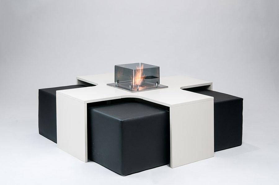 Geometric design bioethanol fireplace n.11