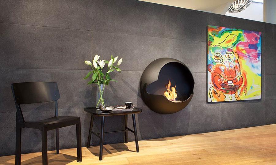 Geometric design bioethanol fireplace n.05