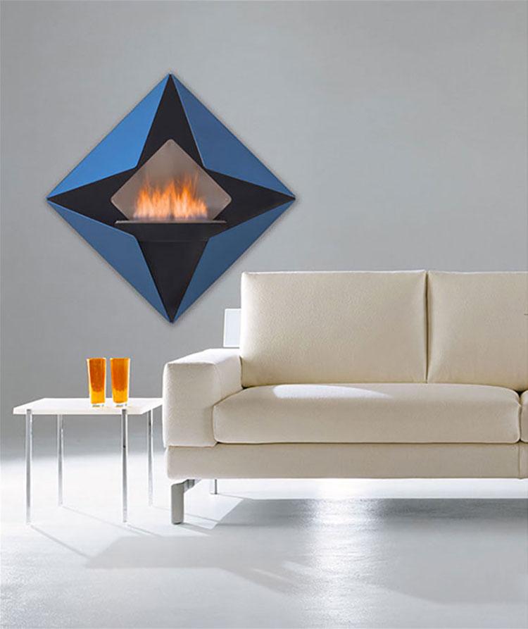 Geometric design bioethanol fireplace n.03
