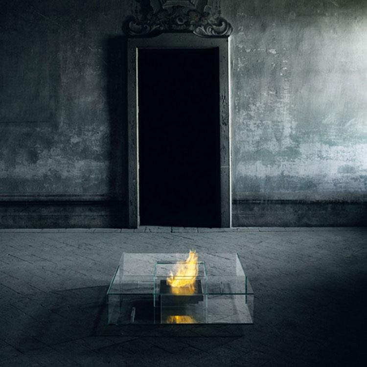 Geometric design bioethanol fireplace n.04
