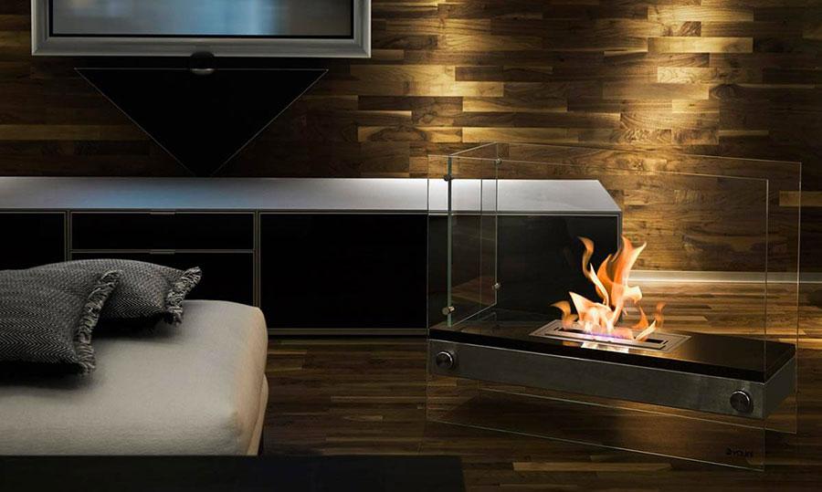 Geometric design bioethanol fireplace n.06