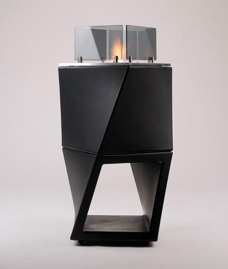 Geometric design bioethanol fireplace n.14