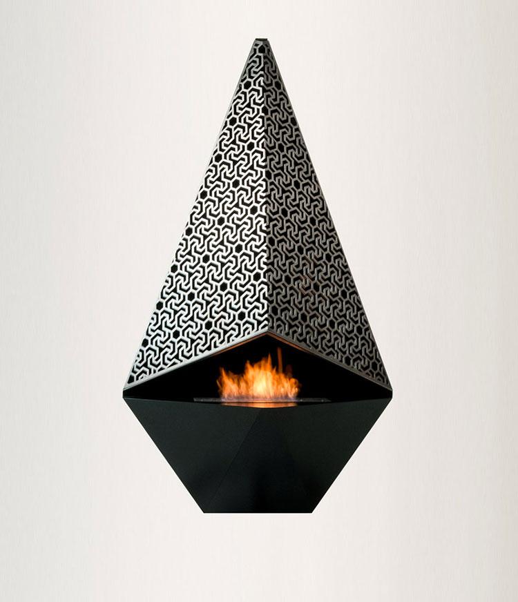 Geometric design bioethanol fireplace n.15