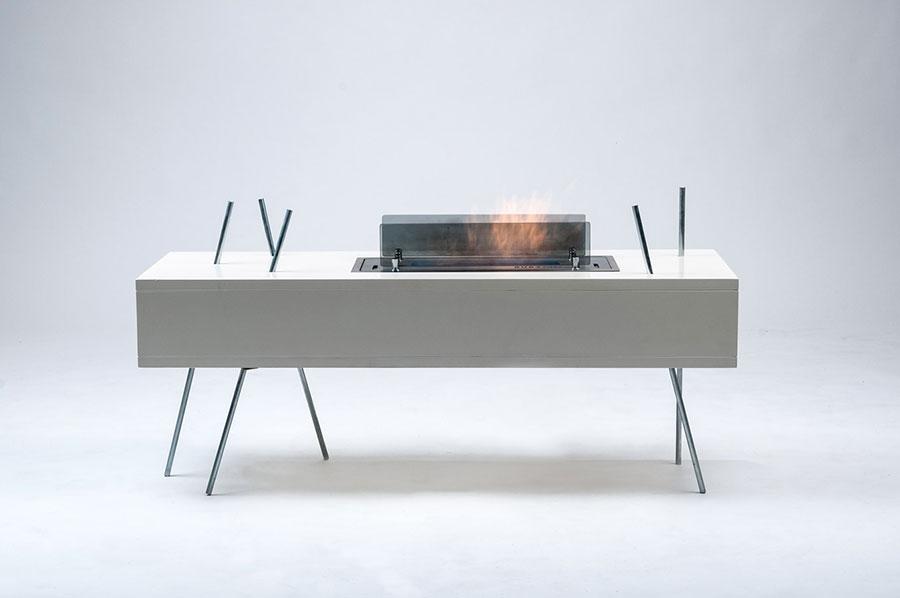 Geometric design bioethanol fireplace n.13