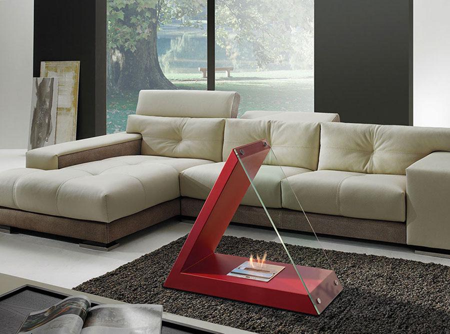 Geometric design bioethanol fireplace n.02