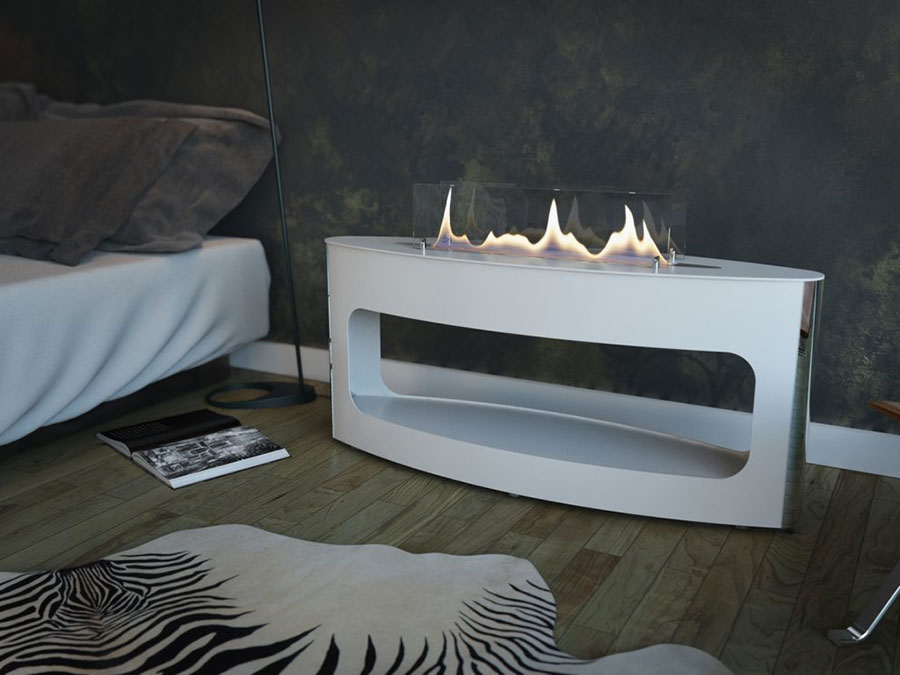 Geometric design bioethanol fireplace n.09