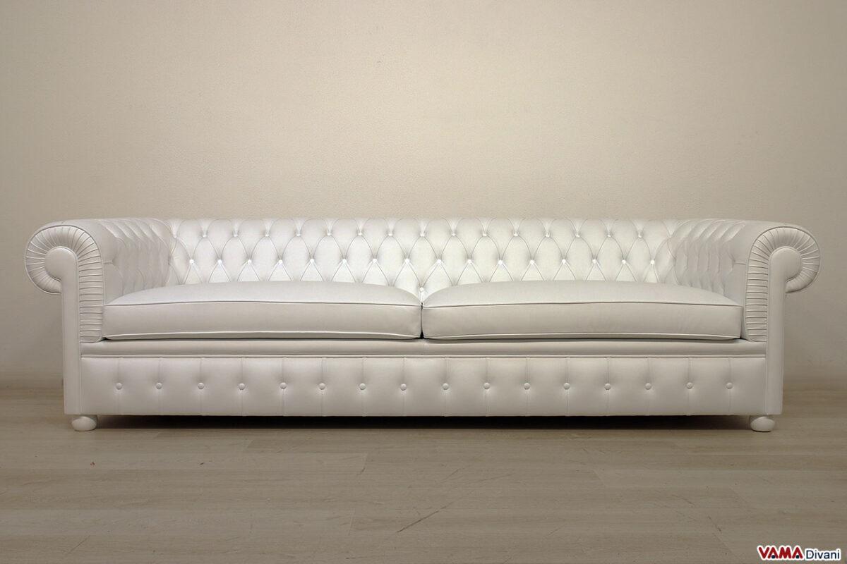 Chesterone sofa in white leather