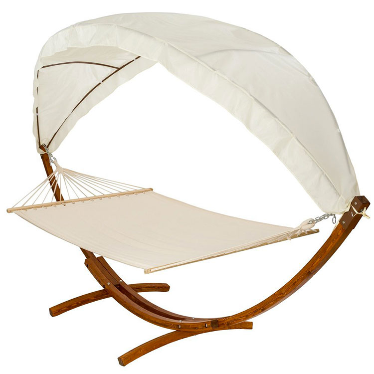 Free-standing garden hammock with parasol n.01