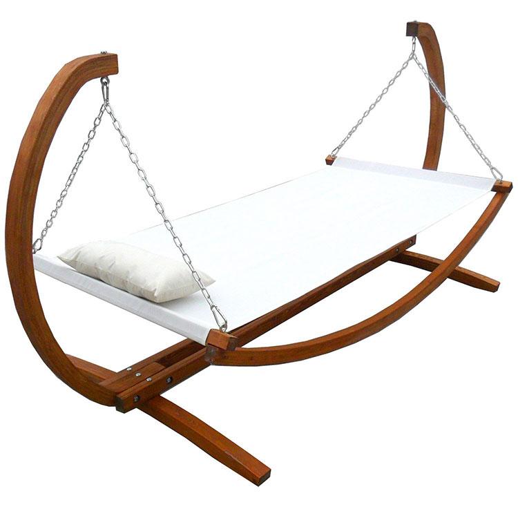 Traditional free-standing garden hammock n.04