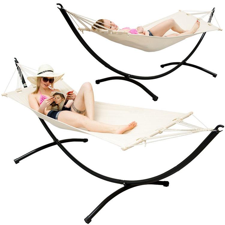 Traditional free-standing garden hammock n.02