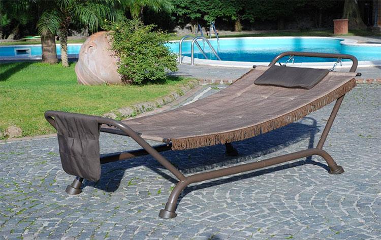 Traditional free-standing garden hammock n.07