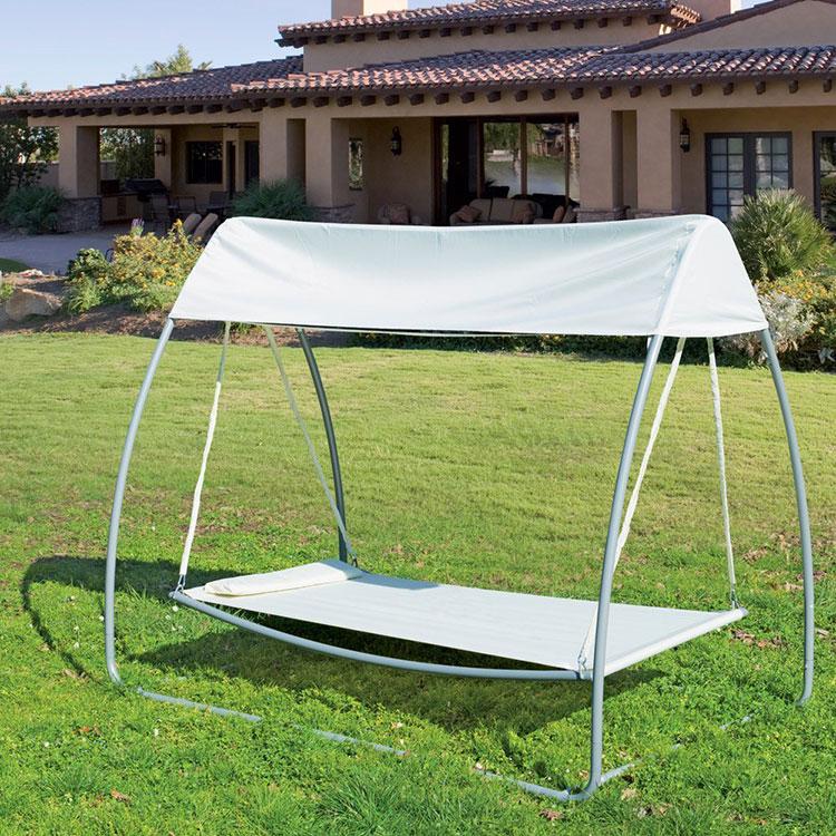 Free-standing garden hammock with parasol n.02