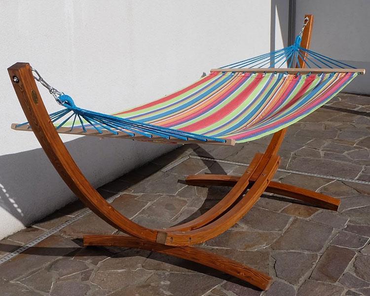 Traditional free-standing garden hammock n.06