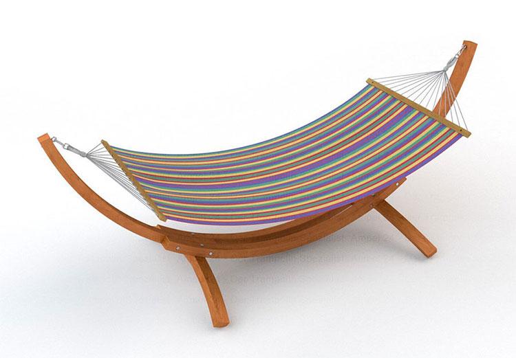 Traditional free-standing garden hammock n.05