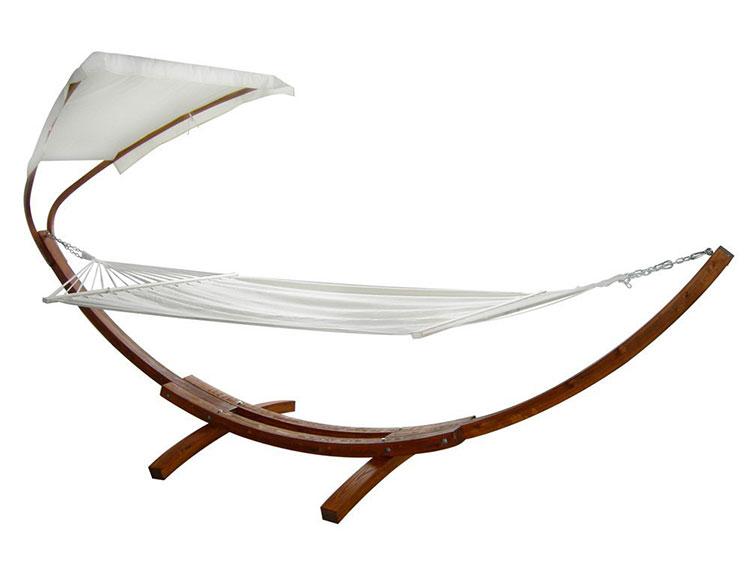 Free-standing garden hammock with parasol n.04
