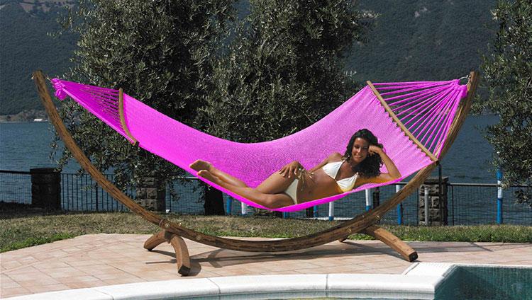 Double free-standing garden hammock n.01
