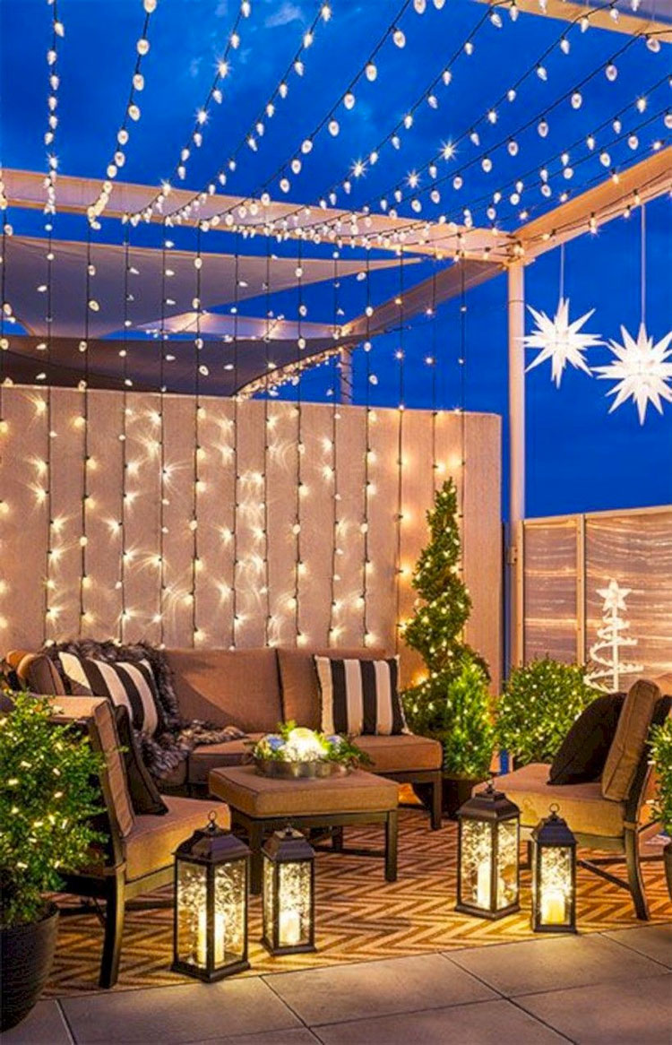 Ideas for embellishing a terrace with lights n.3