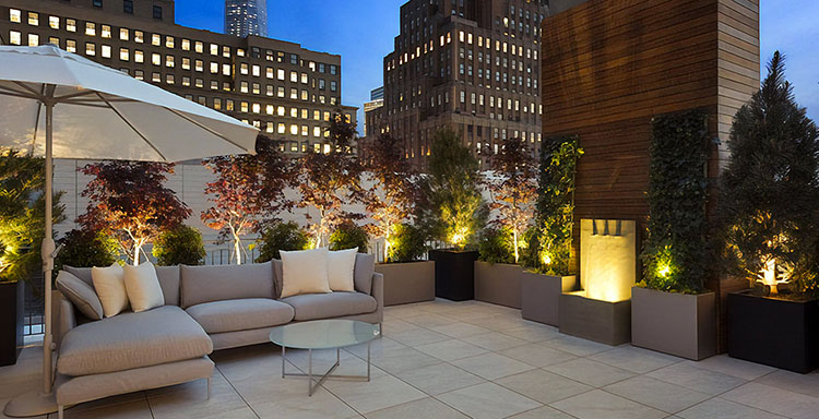 Ideas for embellishing a terrace with lights n.6
