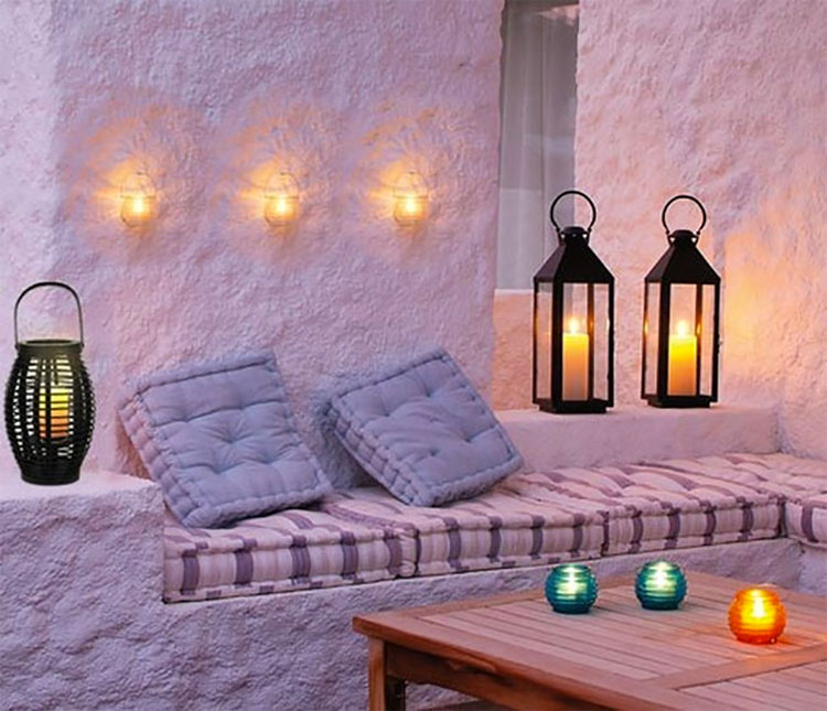 Ideas for embellishing a terrace with lights n.5
