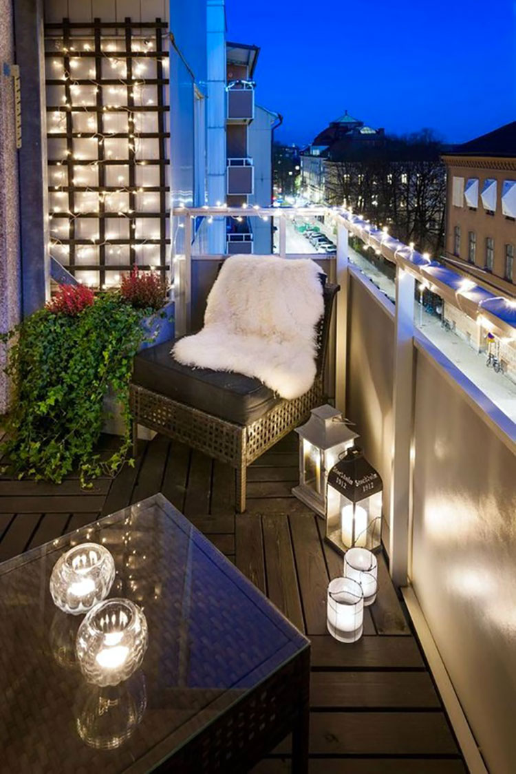 Ideas for embellishing a terrace with lights n.4