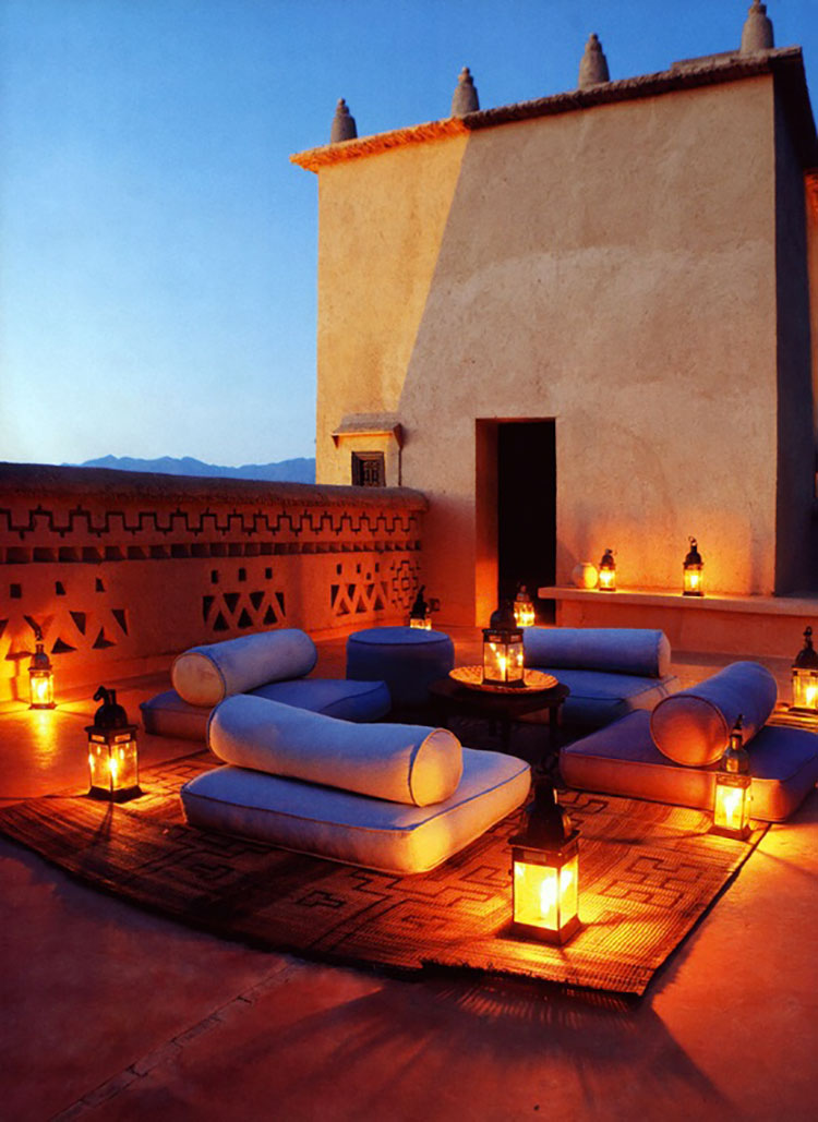 Ideas for embellishing a terrace with lights n.7
