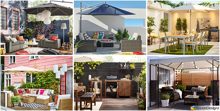 Ideas for embellishing a terrace with Ikea