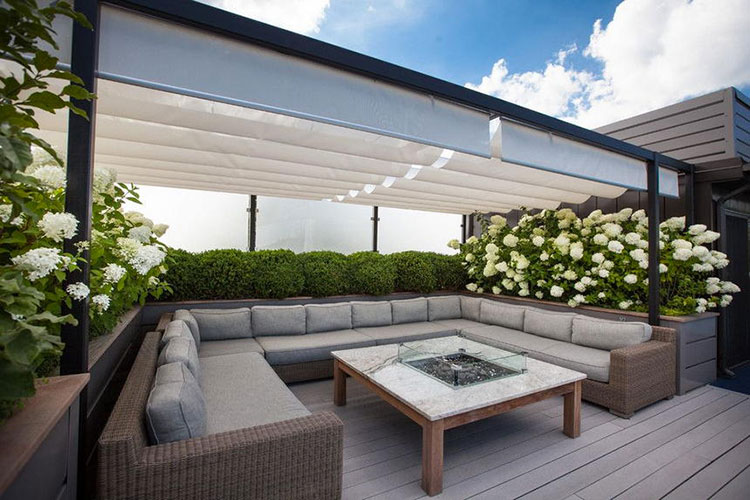 Ideas for embellishing a terrace with pergolas n.5