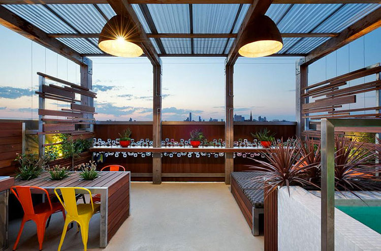 Ideas for embellishing a terrace with pergolas n.2