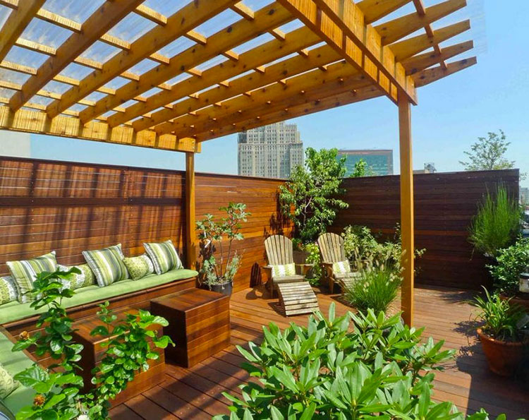 Ideas for embellishing a terrace with pergolas n.4
