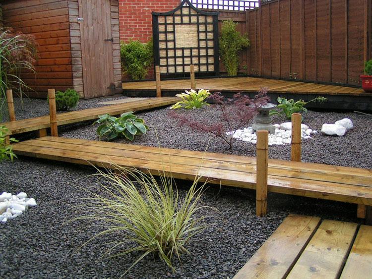 Japanese style zen garden photo # 05
