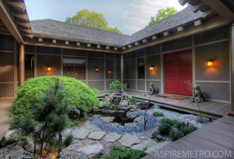 Japanese style zen garden photo # 18