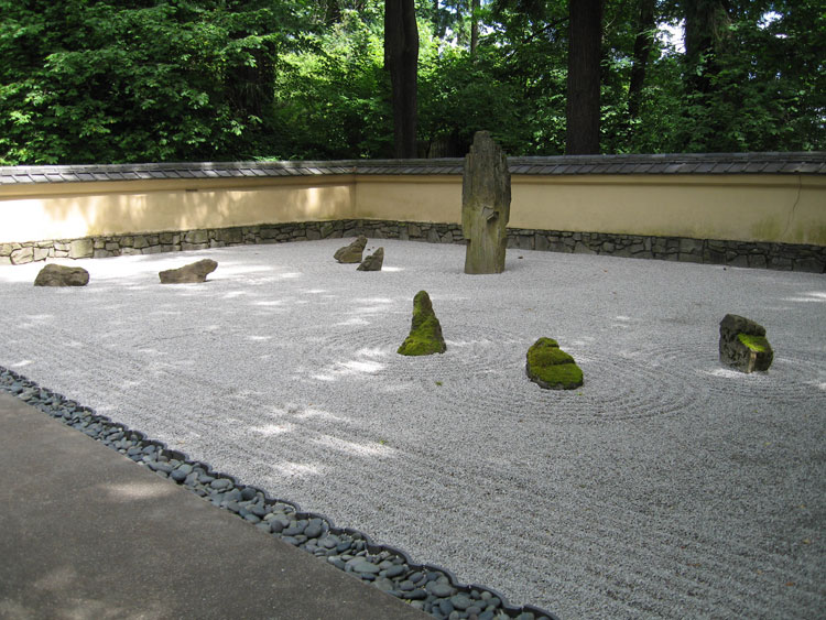 Japanese style zen garden photo # 14