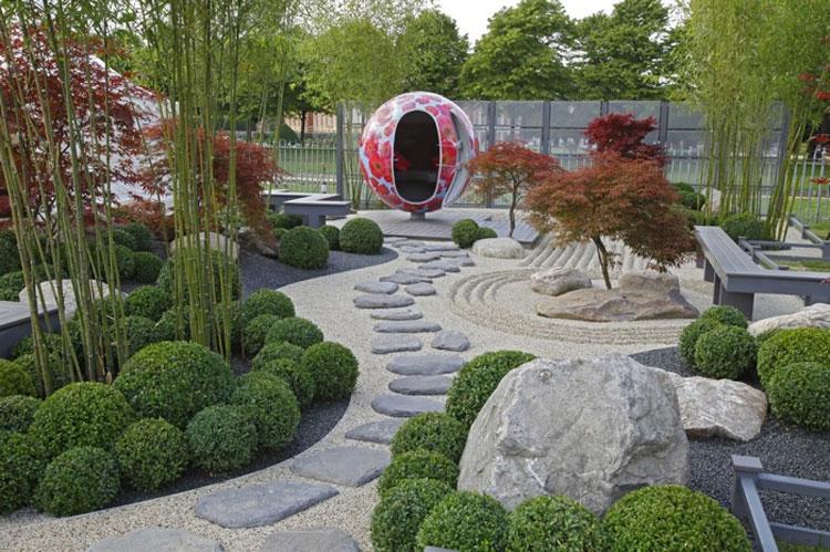 Japanese style zen garden photo # 10