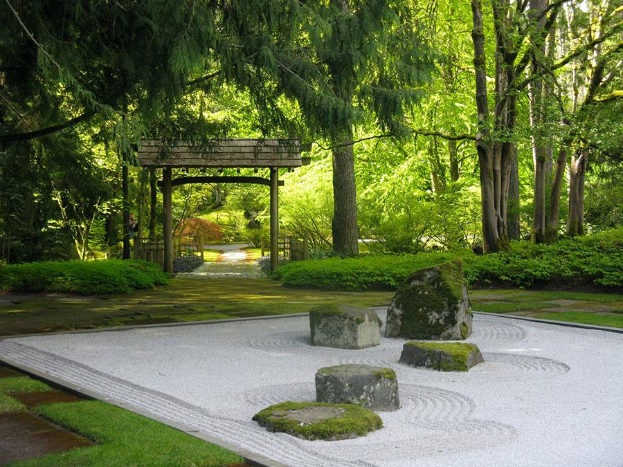 Japanese style zen garden photo # 34