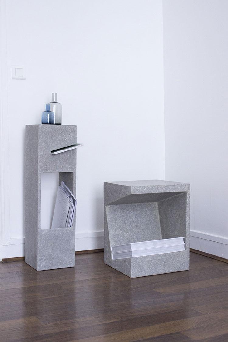 Modern design magazine rack model n.09