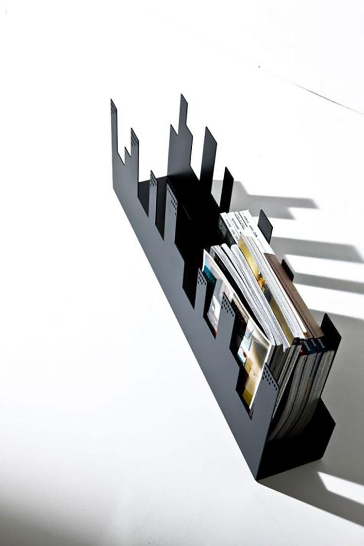 Modern design magazine rack model n.21