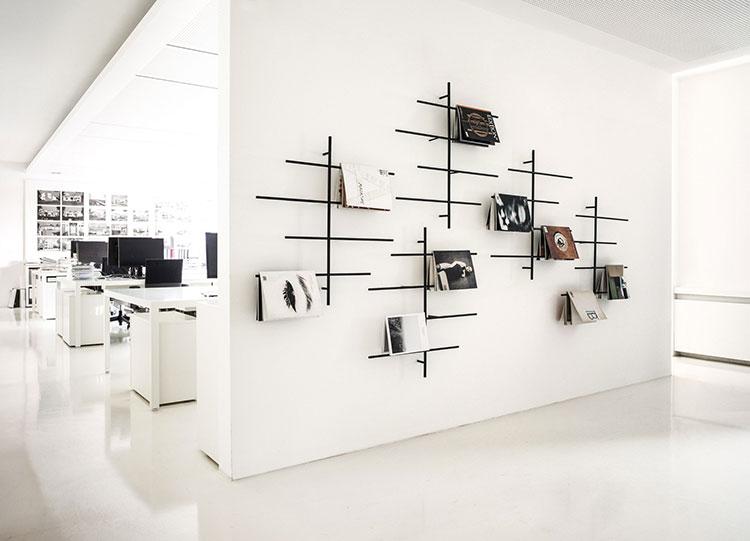 Modern design wall magazine rack model n.02