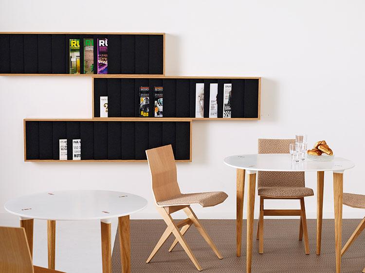 Modern design wall magazine rack model n.08