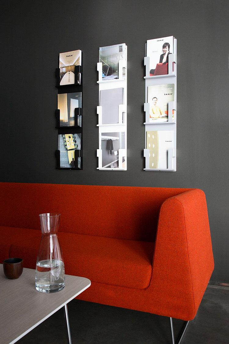 Modern design wall magazine rack model n.05