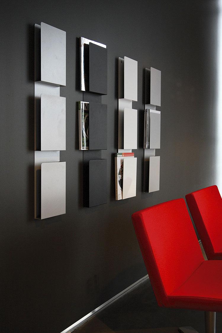Modern design wall magazine rack model n.06