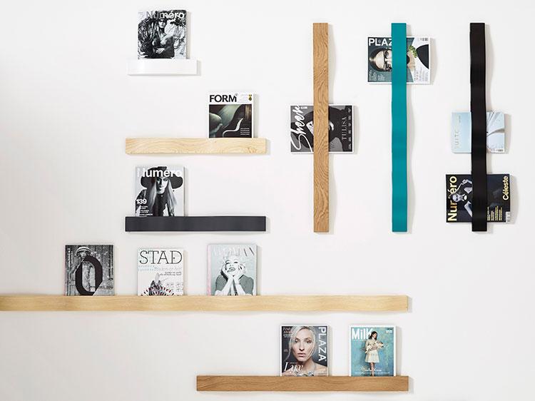 Modern design wall magazine rack model n.01